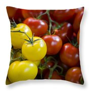 Tomatoes On The Vine Throw Pillow by Heather Applegate
