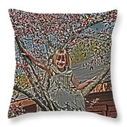 Tomboy In The Tree Throw Pillow