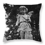 Tombstone Angel Bw Throw Pillow