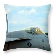Tomcatters On Tarmac 2 Throw Pillow