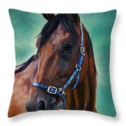 Tommy - Horse Painting Throw Pillow