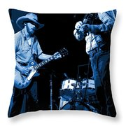 Tommy And Charlie Play Some Blues At Winterland In 1975 Throw Pillow