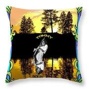 Amber Lake #2 Throw Pillow