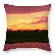 Tomoka River Sunset Throw Pillow
