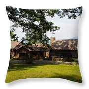 Tom's Cabin In Newport Throw Pillow by Robert Margetts