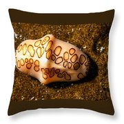 Flamingo Tongue On A Plate Throw Pillow