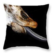 Tongue Work Two Throw Pillow