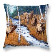 Too Much Bull Throw Pillow
