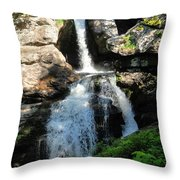 Top Of Kent Falls Throw Pillow