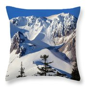Top Of Mt. Hood Throw Pillow