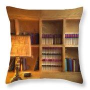 Top Pot's Library Throw Pillow