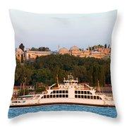 Topkapi Palace In Istanbul Throw Pillow