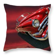 Topless Chevy Throw Pillow