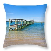 Topsail Island Sound Throw Pillow