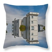 Topsail Island Tower Reflection Throw Pillow