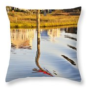 Topsail Sound Sunset Throw Pillow by Betsy Knapp
