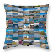 Topsail Visual Contemporary Quilt Series IIi Throw Pillow