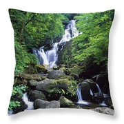 Torc Waterfall, Killarney National Throw Pillow