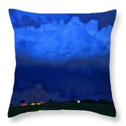 Tornado Over Madison 4 Throw Pillow