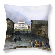 Toronto, Canada, C1842 Throw Pillow