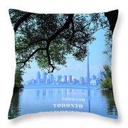 Toronto Harbour Poster Throw Pillow