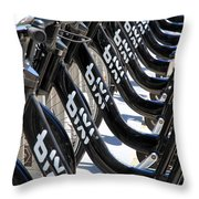 Toronto Public Bikes Throw Pillow