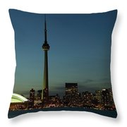 Toronto Skyline, Toronto, Ontario Throw Pillow