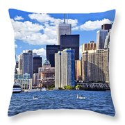 Toronto Waterfront Throw Pillow