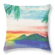 Tortola Sunset Throw Pillow