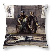 Torture, 16th Century Throw Pillow