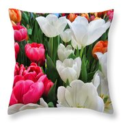 Totally Tulips Throw Pillow