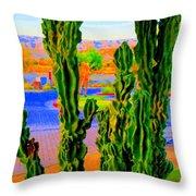 Totem Cactus Throw Pillow