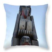 Totem Pole 14 Throw Pillow