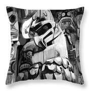Totem Poles On Vancouver Island Throw Pillow