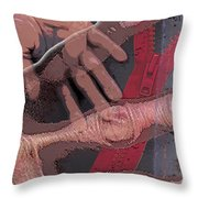 Touch And Red Zipper Throw Pillow