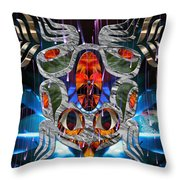 Touch Me As I Fall Into View Throw Pillow by Leslie Kell