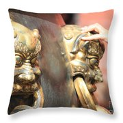 Touch Of Good Fortune Throw Pillow by Carol Groenen