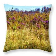 Touch Of Purple In October Throw Pillow