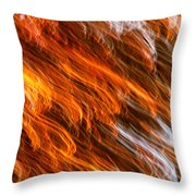 Touched By Fire Throw Pillow