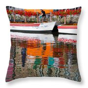 Tour Boat Throw Pillow