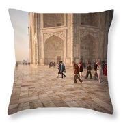 Touring Taj Throw Pillow