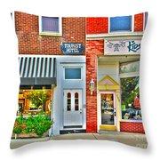 Tourist Hotel-downtown Perrysburg Throw Pillow