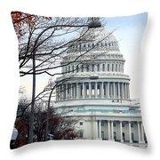 Tourist Site Throw Pillow