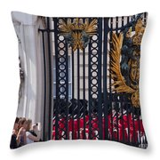 Tourists At Changing Of The Guards Throw Pillow