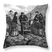 Tourists At Vesuvius, 1872 Throw Pillow