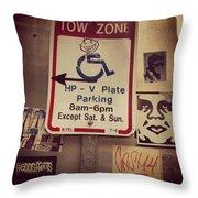 Tow Zone Collage Throw Pillow