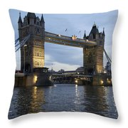 Tower Bridge And River Thames At Dusk Throw Pillow