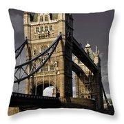 Tower Bridge Throw Pillow by David Pyatt
