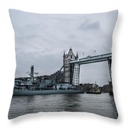 Tower Bridge Open Throw Pillow