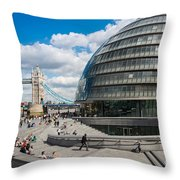 Tower Bridge With City Hall Throw Pillow